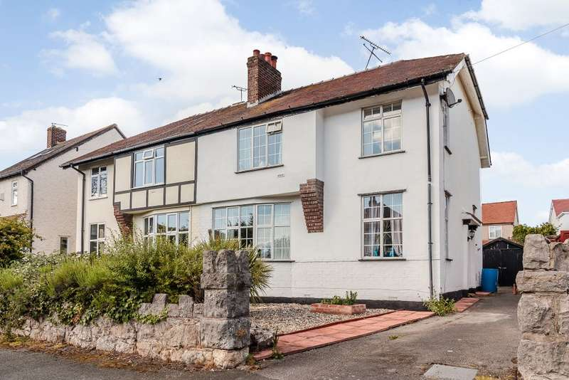 3 Bedrooms Semi Detached House for sale in Hall Road, Penrhyn Bay, Llandudno, Conwy LL30