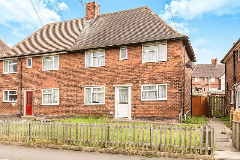 3 Bedrooms Semi Detached House for sale in St. Johns Road, Staveley, Chesterfield, S43