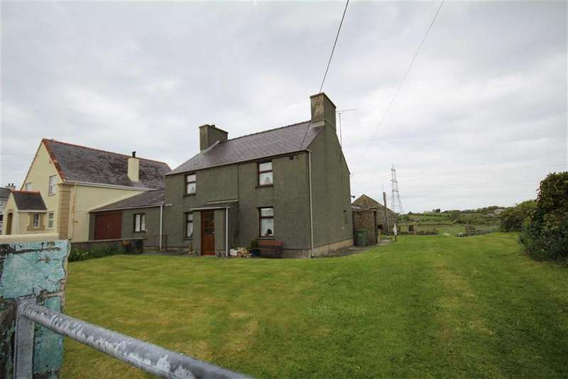 3 Bedrooms Semi Detached House for sale in Nr Cemaes Bay, Anglesey, LL67