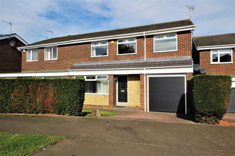 4 Bedrooms Semi Detached House for sale in Newlyn Drive, Parkside Dale, Cramlington