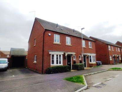 3 Bedrooms Semi Detached House for sale in Cheviot Gardens, Oakridge Park, Milton Keynes, Buckinghamshire