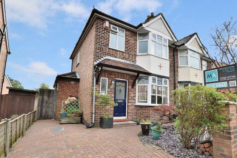 3 Bedrooms Semi Detached House for sale in Glebe Avenue, Grappenhall, Warrington