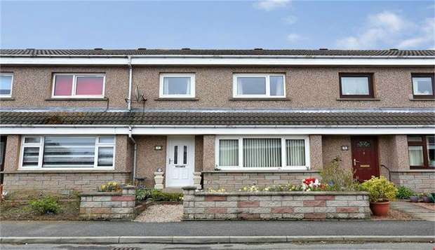 3 Bedrooms Terraced House for sale in Davah Court, Inverurie, Aberdeenshire