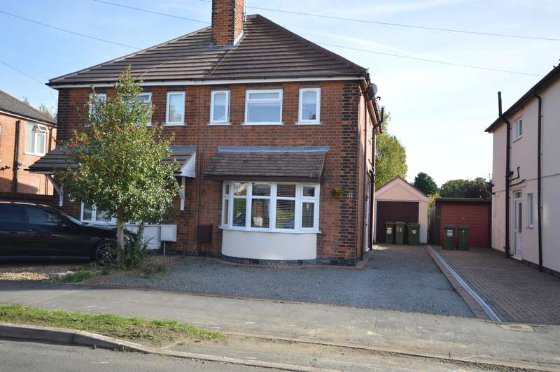 3 Bedrooms Semi Detached House for sale in Kings Drive, Leicester Forest East, Leicester, LE3 3JA