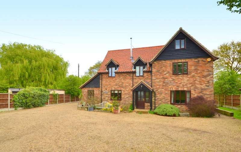 4 Bedrooms Detached House for sale in California Lane, Hintlesham, Ipswich, Suffolk, IP8 3QJ