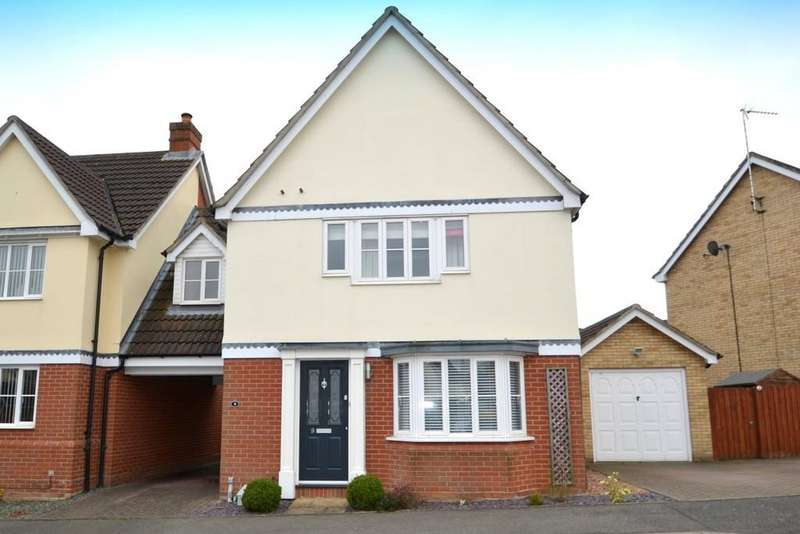 3 Bedrooms Link Detached House for sale in Brimstone Road, Ipswich, Suffolk, IP8 3QY