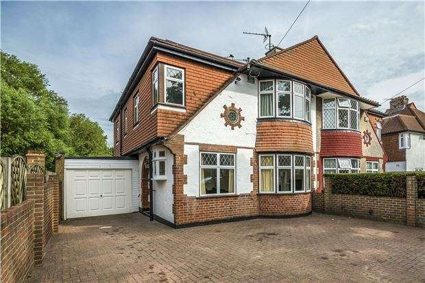 4 Bedrooms Semi Detached House for sale in Burnham Drive, WORCESTER PARK, Surrey, KT4 8SE