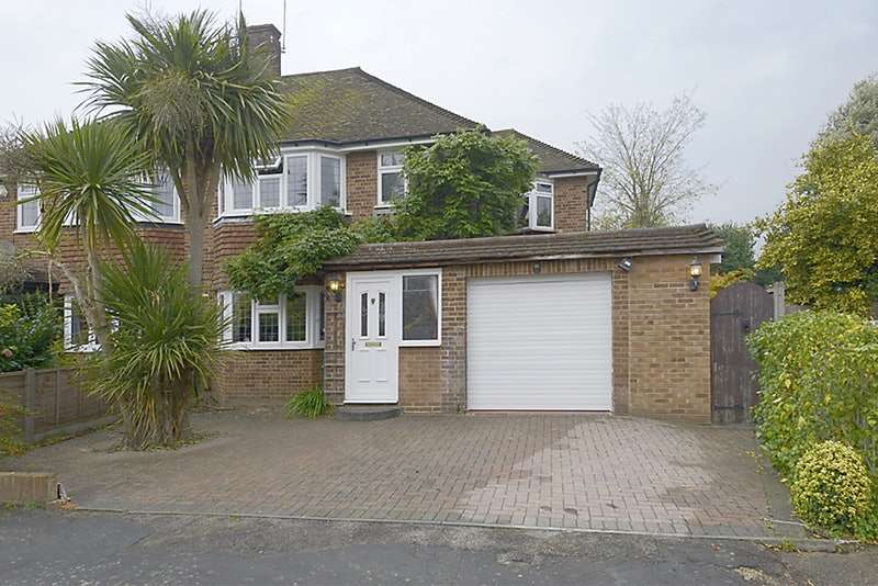 3 Bedrooms Semi Detached House for sale in Birch Close, Addlestone, Surrey, KT15
