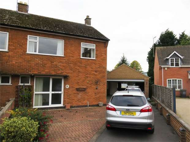 3 Bedrooms Semi Detached House for sale in Garendon Close, Shepshed, Loughborough, Leicestershire