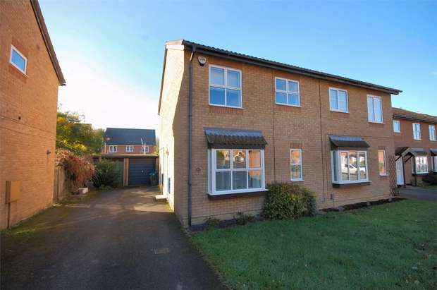 3 Bedrooms Semi Detached House for sale in Isis Close, Aylesbury, Buckinghamshire