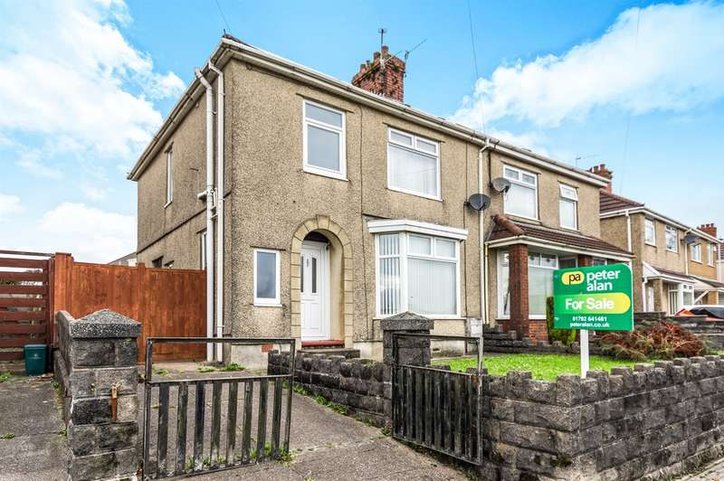 3 Bedrooms Semi Detached House for sale in Mynydd Newydd Road, Caereithin, Swansea