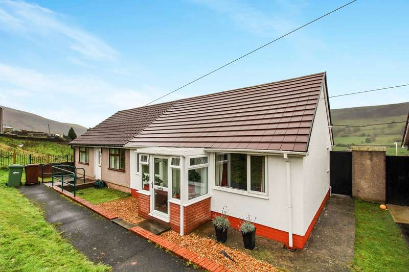 1 Bedroom Semi Detached Bungalow for sale in Warnes Terrace, Rhymney, Tredegar, NP22