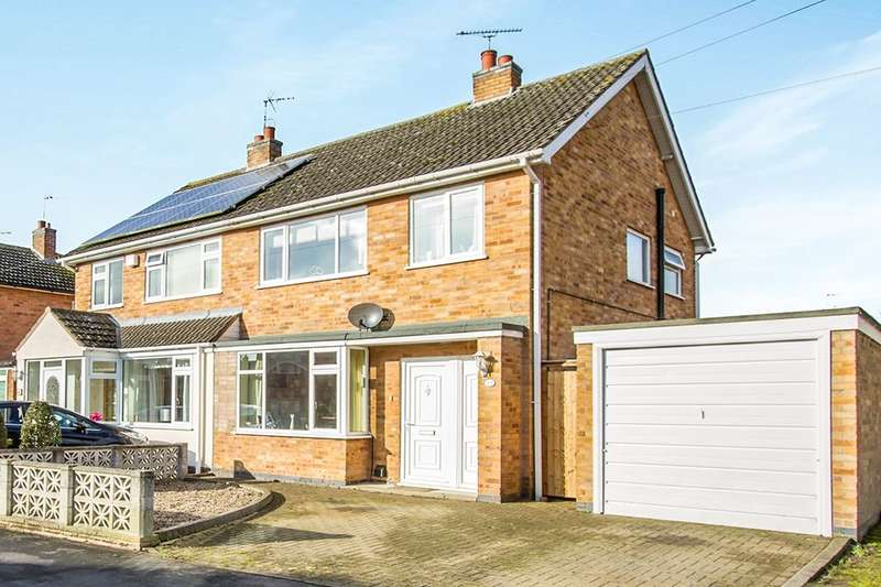 3 Bedrooms Semi Detached House for sale in Oak Road, Littlethorpe, Leicester, LE19