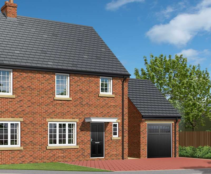 3 Bedrooms Semi Detached House for sale in 'The Meribel', Plot 9, Park View, Brierley, Barnsley