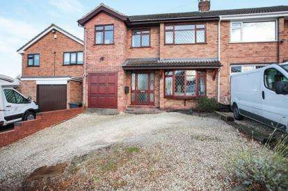 4 Bedrooms Semi Detached House for sale in Berwyn Way, Nuneaton, Warwickshire, .