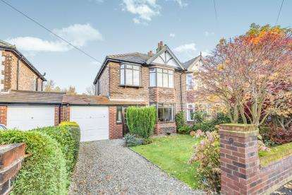 3 Bedrooms Semi Detached House for sale in Burnside Avenue, Stockton Heath, Warrington, Cheshire