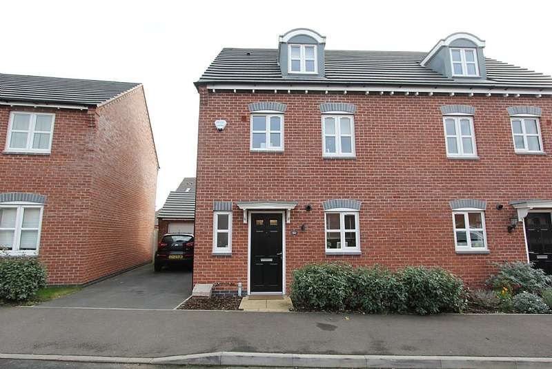 4 Bedrooms Semi Detached House for sale in Usbourne Way, Ibstock, Leicestershire, LE67 6AH