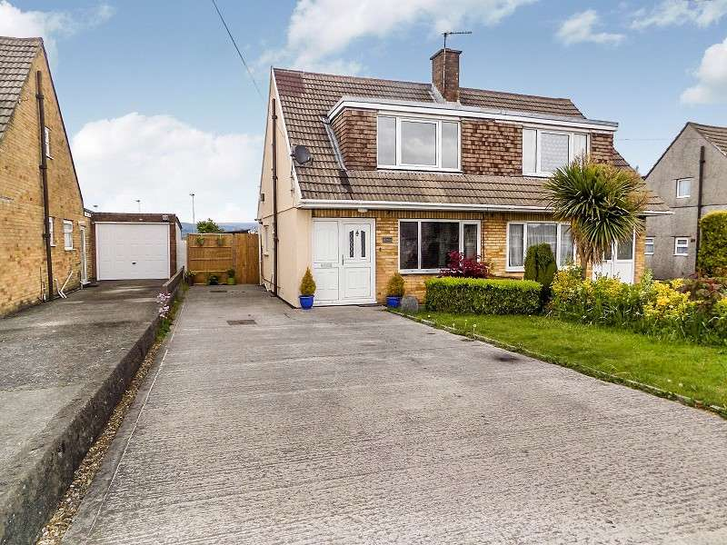 3 Bedrooms Semi Detached Bungalow for sale in Merlin Crescent, Cefn Glas, Bridgend. CF31 4QW