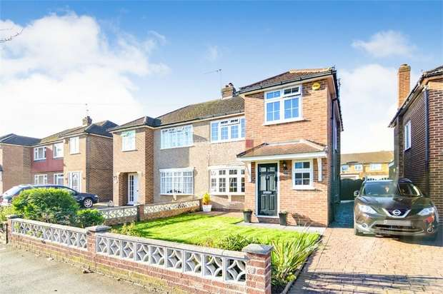 4 Bedrooms Semi Detached House for sale in Roundmoor Drive, Cheshunt, WALTHAM CROSS, Hertfordshire