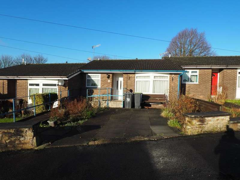 2 Bedrooms Terraced Bungalow for sale in Ollersett Avenue, New Mills, High Peak, Derbyshire, SK22 4LE