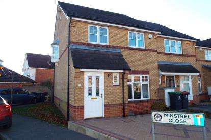 3 Bedrooms Semi Detached House for sale in Minstrel Close, Hucknall, Nottingham, Nottinghamshire