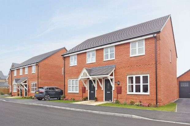 3 Bedrooms Semi Detached House for sale in The Studland, Buckton Fields, Northampton NN6 8AA