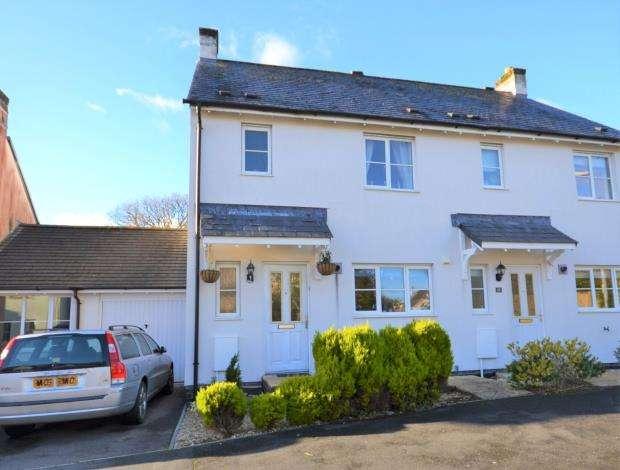 3 Bedrooms Semi Detached House for sale in Boconnoc Avenue, Callington, Cornwall