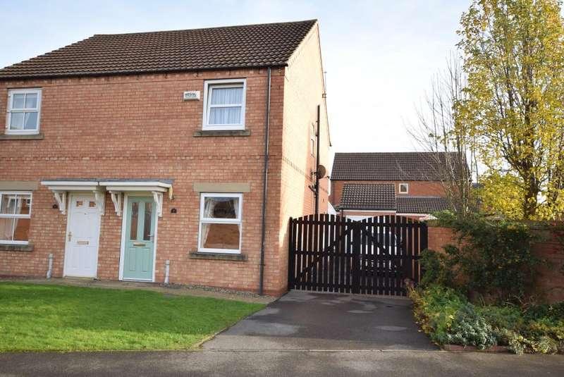 2 Bedrooms Semi Detached House for sale in Hadrians Walk, Crossgates, Scarborough, North Yorkshire YO12 4LG