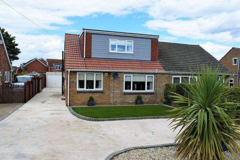 3 Bedrooms Semi Detached Bungalow for sale in Station Road, Ulceby