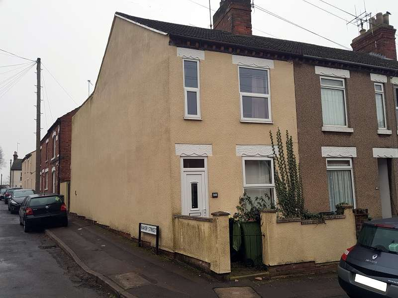 3 Bedrooms End Of Terrace House for rent in Poplar Street, Wellingborough, Northamptonshire. NN8 4PL