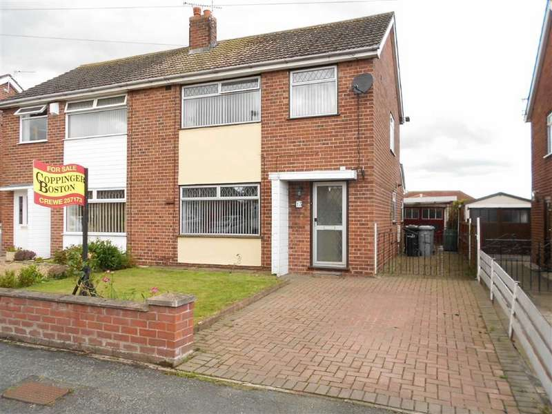 3 Bedrooms Semi Detached House for sale in Dorric Way, Crewe, Cheshire