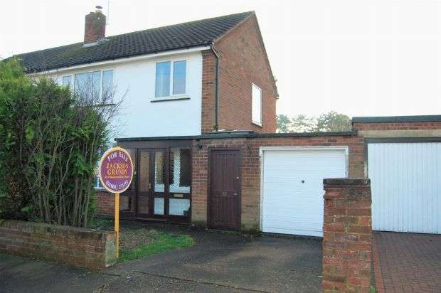 3 Bedrooms Semi Detached House for sale in Debdale Road, The Headlands, Northampton NN3 2TR