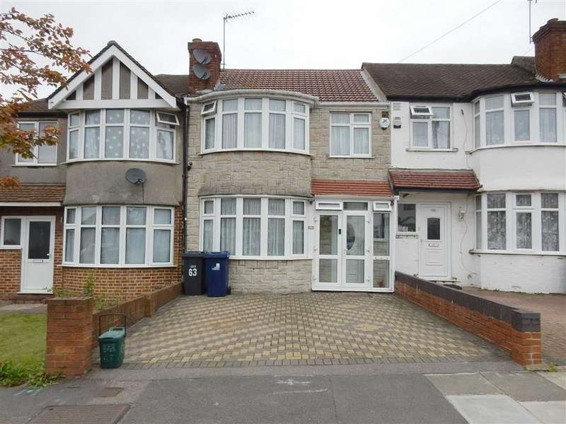 3 Bedrooms Terraced House for sale in Hillside Road, Southall, Middlesex