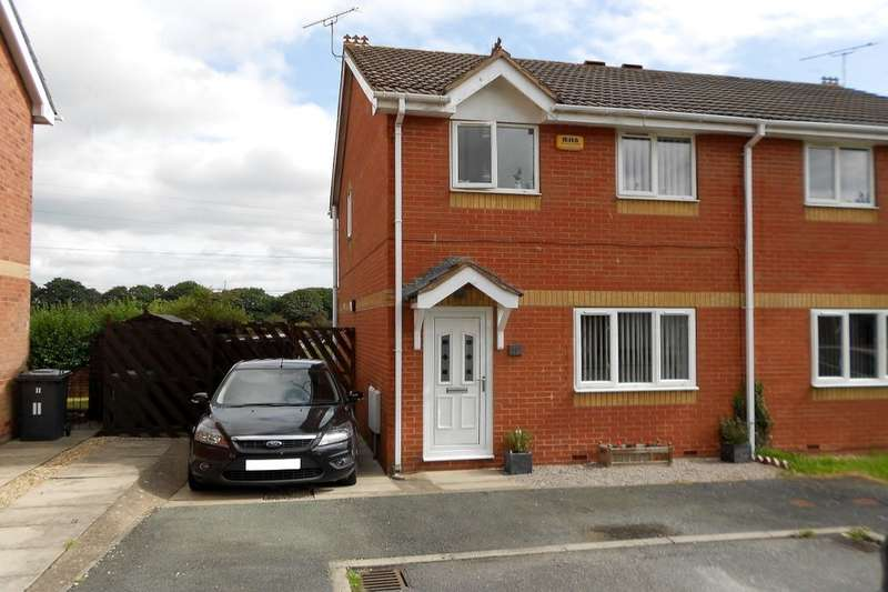 3 Bedrooms Semi Detached House for sale in Bernfels Court, Ponciau, Wrexham, LL14
