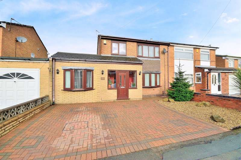 4 Bedrooms Semi Detached House for sale in Epping Drive, Woolston, Warrington