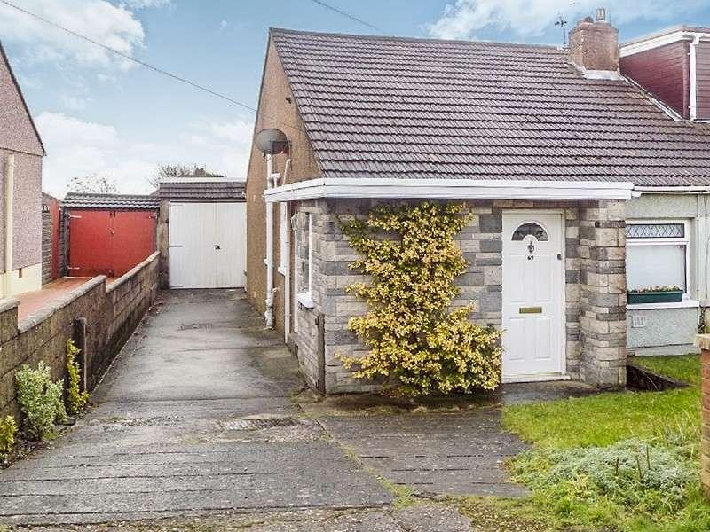 3 Bedrooms Semi Detached Bungalow for sale in Merlin Crescent, Bridgend. CF31 4QW