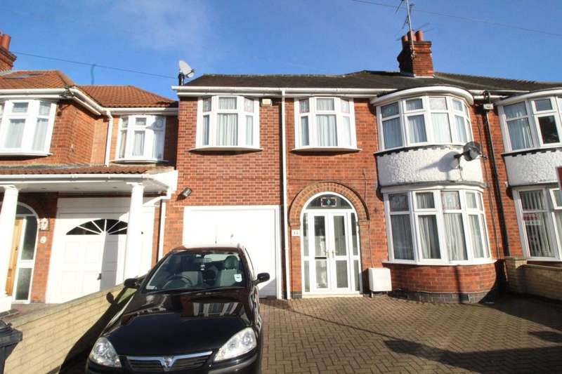 5 Bedrooms Semi Detached House for sale in Broadway Road, Leicester, LE5