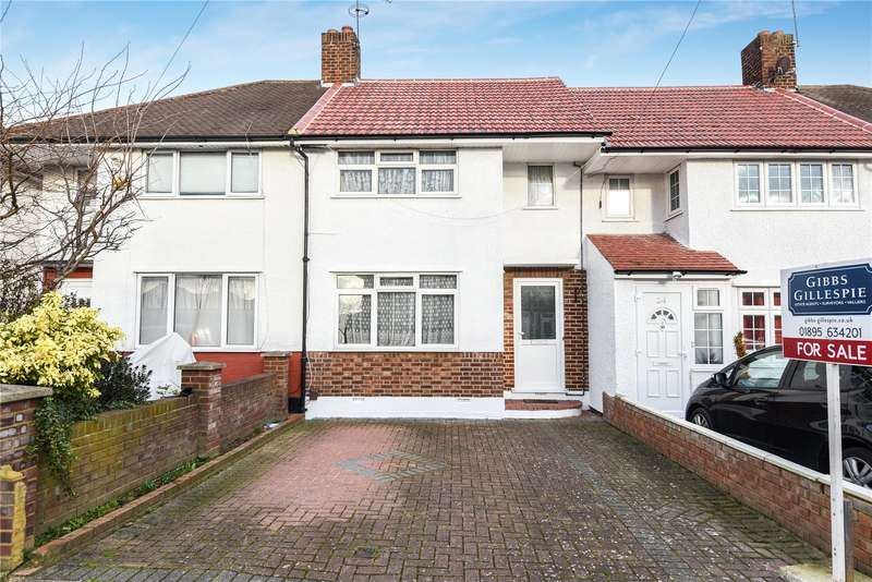 3 Bedrooms Terraced House for sale in Canfield Drive, Ruislip, Middlesex, HA4