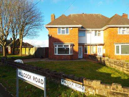 4 Bedrooms Semi Detached House for sale in Willcock Road, Wolverhampton, West Midlands