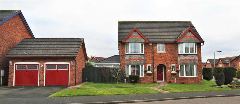 4 Bedrooms Detached House for sale in Dover Close, Hazelmere, Bedlington