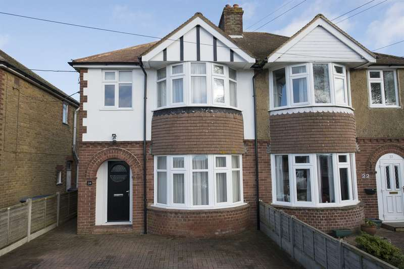 3 Bedrooms Semi Detached House for sale in Shalloak Road, Broad Oak, Canterbury
