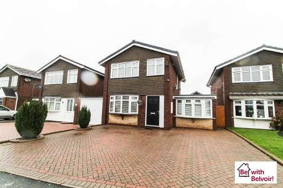 3 Bedrooms Detached House for sale in Alnwick Close, Heath Hayes, Cannock