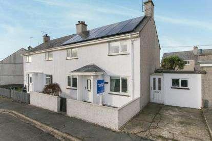 3 Bedrooms Semi Detached House for sale in Terfynfa, Morfa Nefyn, Pwllheli, Gwynedd, LL53