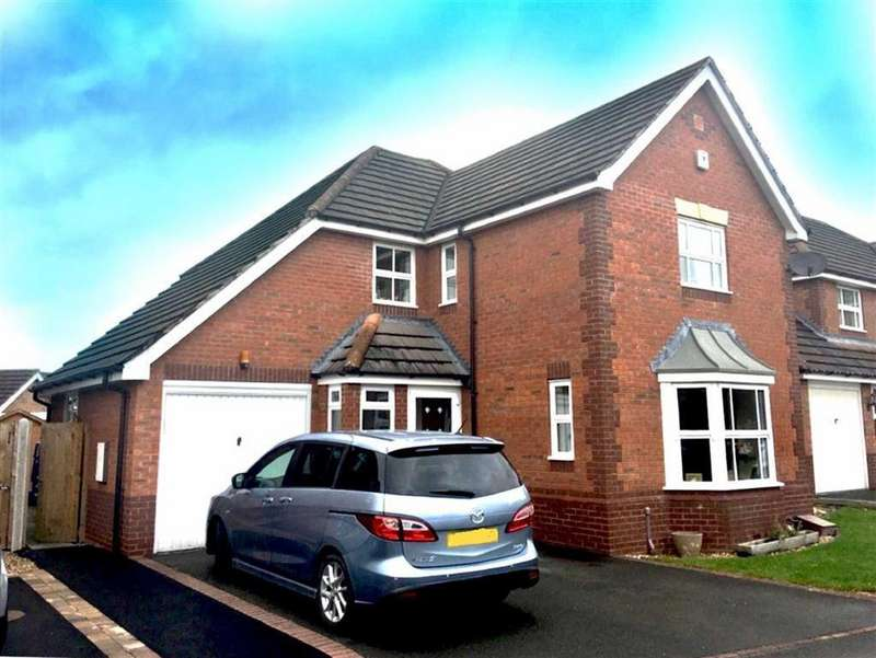 4 Bedrooms Detached House for sale in Hallam Drive, Berwick Grange, Shrewsbury