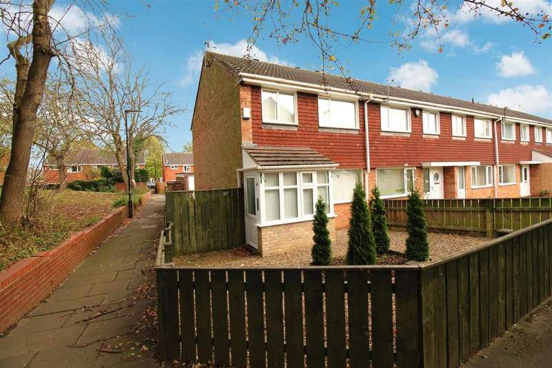 3 Bedrooms End Of Terrace House for sale in Arundel Court, Kingston Park, Newcastle Upon Tyne