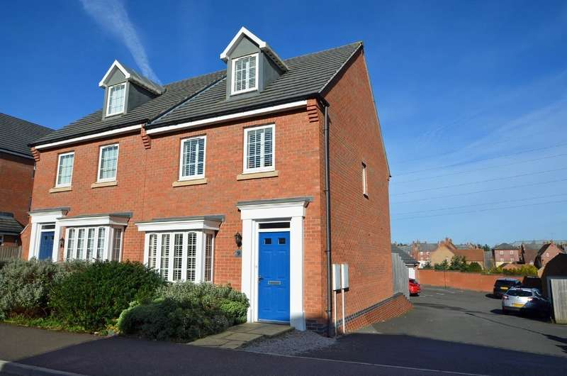 3 Bedrooms Semi Detached House for sale in Snellsdale Road, Coton Park, Rugby