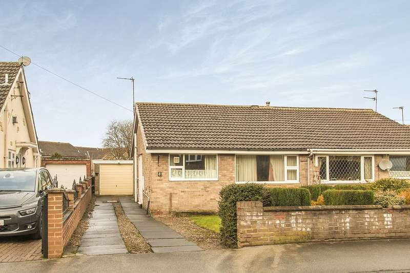 2 Bedrooms Semi Detached Bungalow for sale in Knoll Park, East Ardsley, Wakefield, WF3