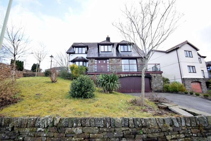 4 Bedrooms Detached House for sale in Ty Garreg, 1 Heol Tynant, Llangeinor, Bridgend, Bridgend County Borough, CF32 8HZ.