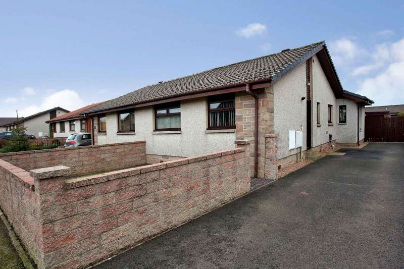 2 Bedrooms Semi Detached Bungalow for sale in Easter Drive, Portlethen, Aberdeenshire, AB12 4XD