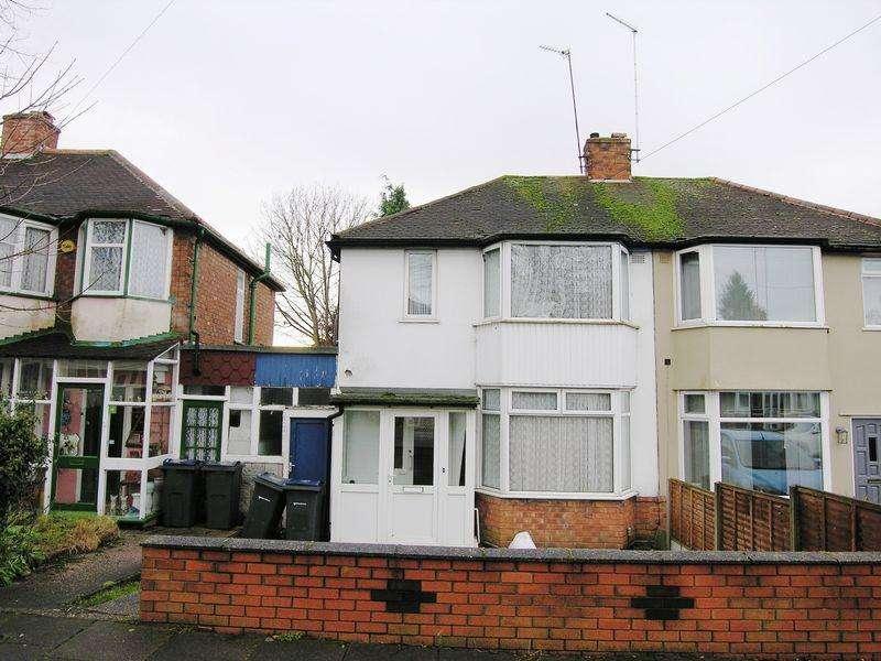 2 Bedrooms Semi Detached House for sale in Milburn Road, Birmingham